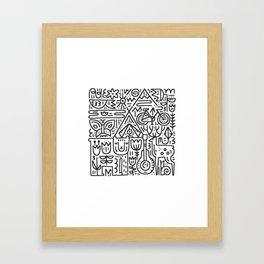 Camping Hand Drawn Illustration Framed Art Print
