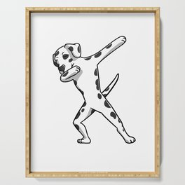 Funny Dabbing Dalmatian Dog Dab Dance Serving Tray