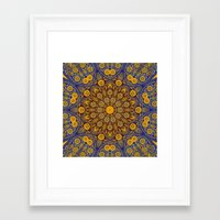 morrocan Framed Art Prints featuring Vintage Morrocan Tile by Blooming Vine Design