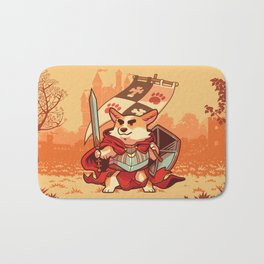 Corgi knight Bath Mat