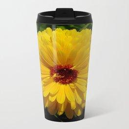 Holligold Blossoming Yellow Pot Marigold Flower  Travel Mug