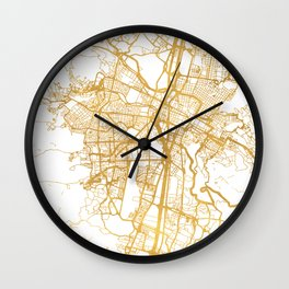 MEDELLÍN COLOMBIA CITY STREET MAP ART Wall Clock