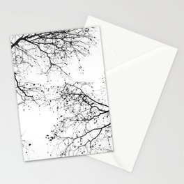BLACK BRANCHES 2 Stationery Cards