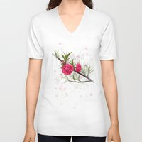 blossom V-neck T-shirts featuring Blossom by IvanaW