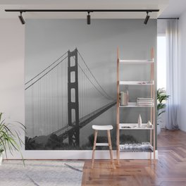 The Golden Gate Bridge In A Mist Wall Mural
