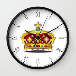 Royal Crown On White Background Wall Clock