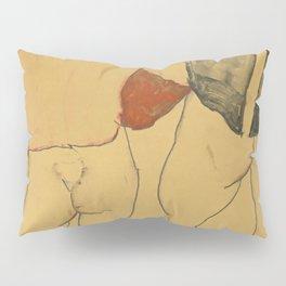 "Egon Schiele ""Two standing semi-nude females"" Pillow Sham"
