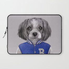 dog boy portrait Laptop Sleeve