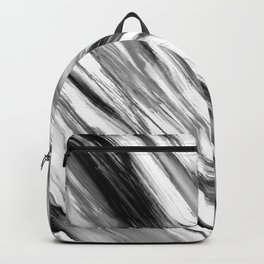 Black and White Painted Tie Dye Multi Media Cool Texture Trending Popular Modern Backpack