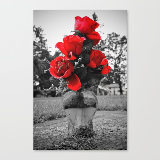 Red is permanence  Canvas Print