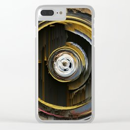 Target Rings: digital abstraction Clear iPhone Case