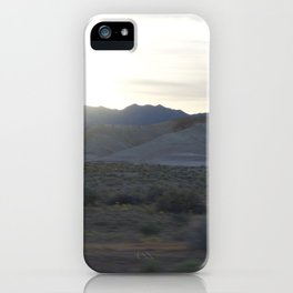On The Road: Rare Lush Greenery At Sundown In Death Valley Spring Bloom 2016 iPhone Case