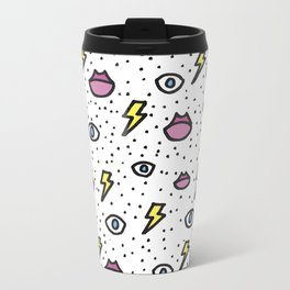 Ojos, labios y rayitos Travel Mug