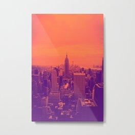 NYC (orange) Metal Print