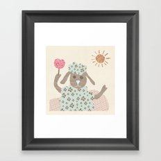 sheep collage Framed Art Print