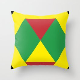 This is a strange colored Diamond, being eaten by a yellow mouth snake. Throw Pillow