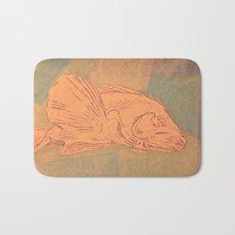 Pale Fish Bath Mat