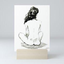 Seated nude Mini Art Print