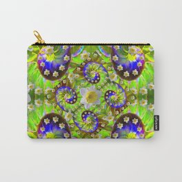 ULTRA VIOLET GREEN DAFFODIL GARDEN MAZE Carry-All Pouch