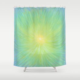 Radiance in Greens Shower Curtain