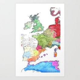 Pre-Roman Europe and North Africa Art Print