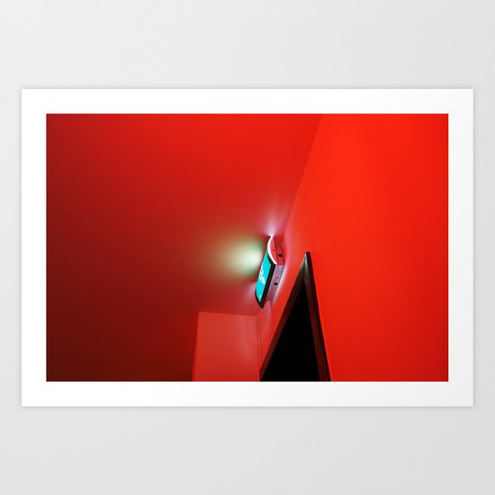 2007 - Exit In Red Art Print