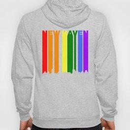 New Haven Connecticut Gay Pride Rainbow Skyline Hoody