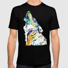 Spirt Wolf I Mens Fitted Tee Black LARGE