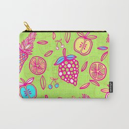 Tropicana on lime green Carry-All Pouch