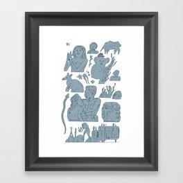 pokpok Framed Art Print