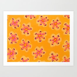 Tangerine Emily Claire Art Print