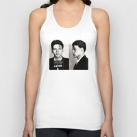 frank sinatra Tank Tops featuring Frank Sinatra Mug Shot  by All Surfaces Design