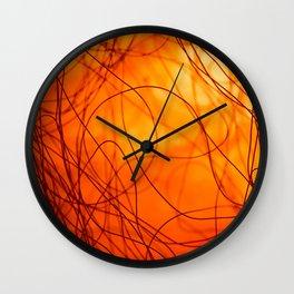 Hot fire Wall Clock