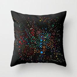 Space Alphabet Dots Colors Throw Pillow