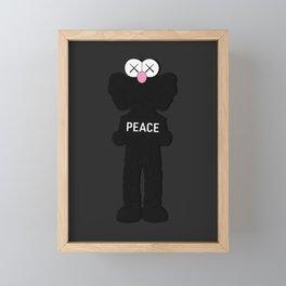 Kaws Peace Poster Framed Mini Art Print