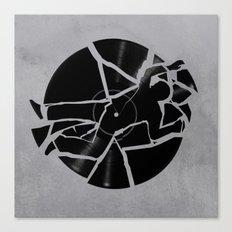 Broken Record Canvas Print