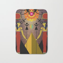 Hathor under the eyes of Ra -Egyptian Gods and Goddesses Bath Mat