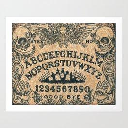 Ouija Board Art Print