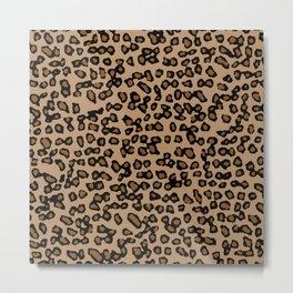 Digital Leopard Metal Print