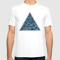 Triangulation (Inverted) MEDIUM Mens Fitted Tee White