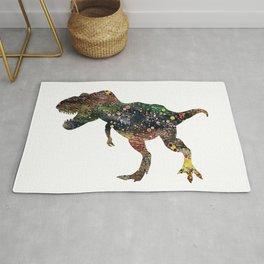 Tyrannosaurus Rex Watercolor Rug