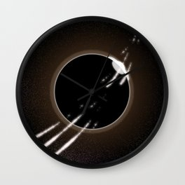 Meteor Shower Over Eclipse Wall Clock
