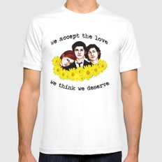 Perks of being a Wallflower MEDIUM White Mens Fitted Tee