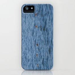 Lucky fishers-puffins iPhone Case