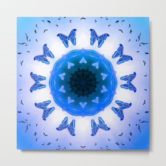 All things with wings (blue) Metal Print