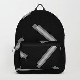 LINA ((white on black)) Backpack
