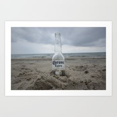 Corona on the beach Art Print