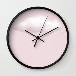 BLUSH COTTON CANDY CLOUD Wall Clock
