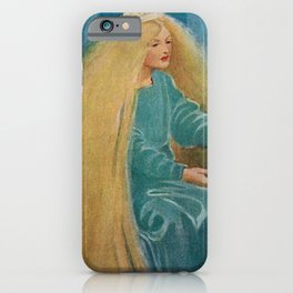 The Princess and the Goblin fairy tale children's portrait painting by Jessie Wilcox Smith iPhone Case