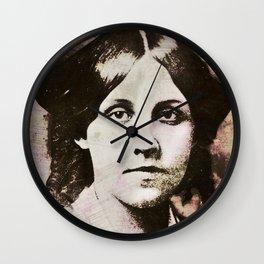 Louisa May Alcott Wall Clock